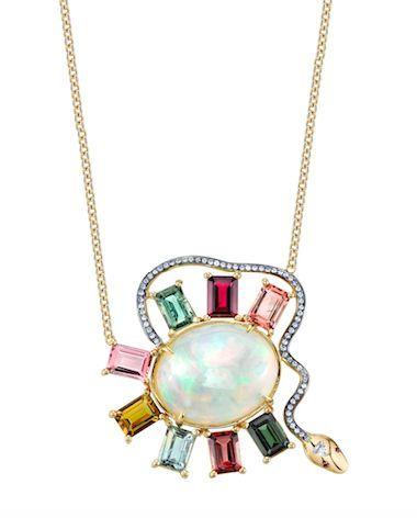 Daniela Villegas Snake necklace