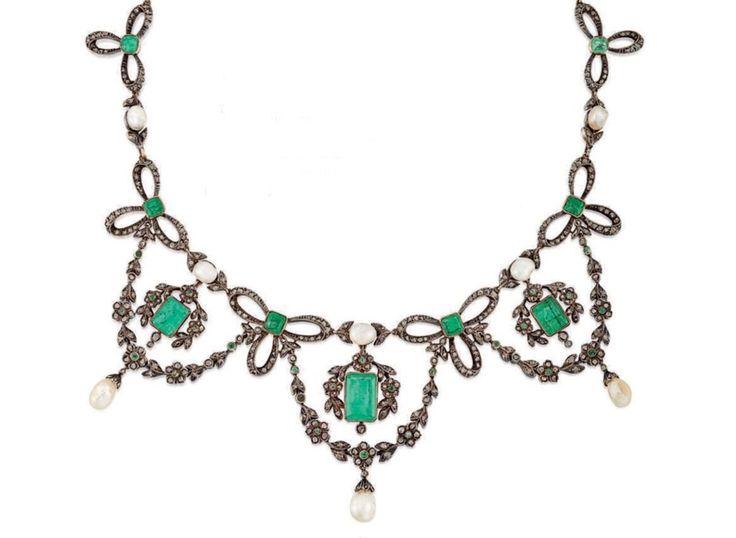 Emerald tiara / necklace - Christie's june 2018
