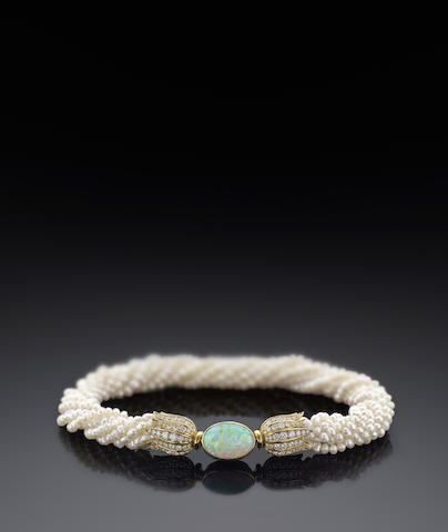Formerly in the collection of Princess Salimah Aga Khan: A freshwater cultured p...