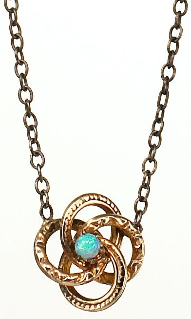 Love knot pendant from the Estate of Grace Collection. This pendant was original...