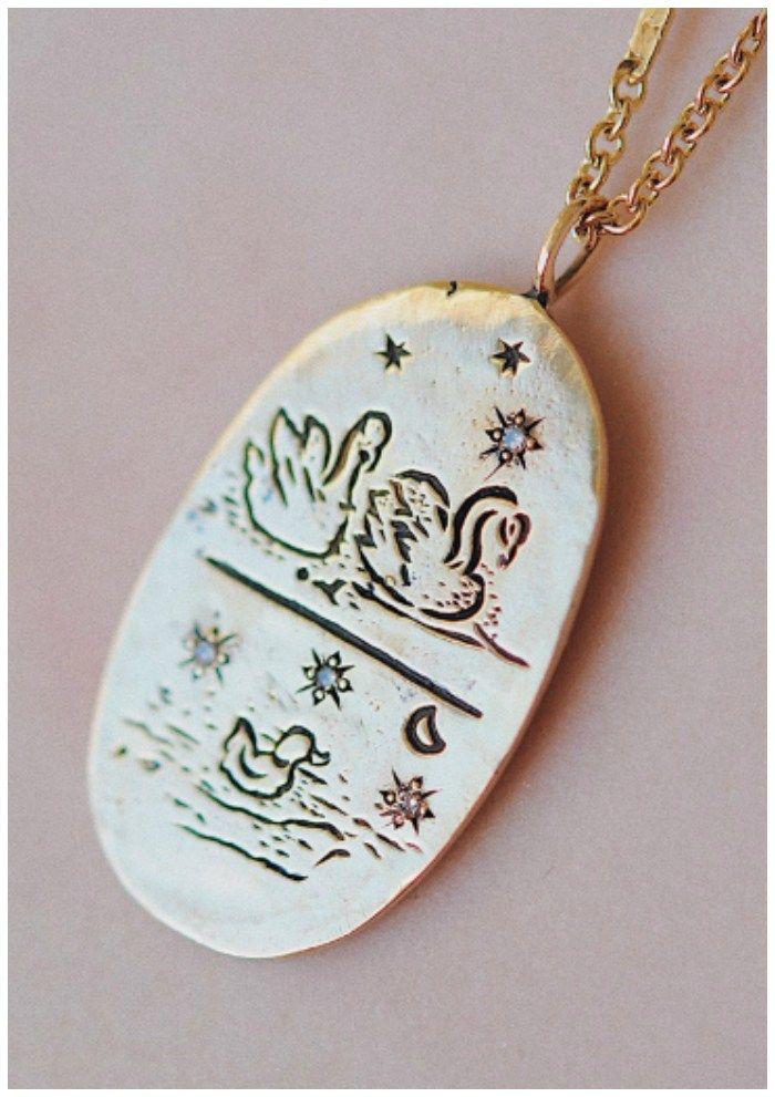 Mama jewelry she'll want to wear - Sofia Zakia's Cygnus necklace.The swe...