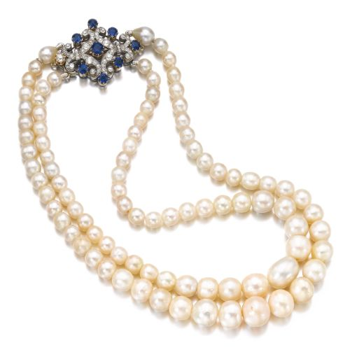 Natural pearl, sapphire and diamond necklace 25,000 — 35,000 CHF 24,978 - 34,9...