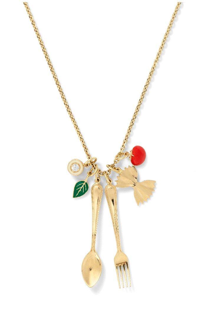 Precious pasta jewelry from Alison Lou. | Diamonds in the Library