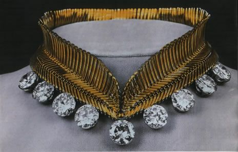 Princess Lilian's collar necklace by Van Cleef & Arpels; she wore it with ni...
