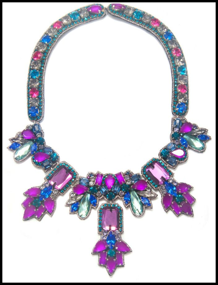 Suzanna Dai Fireworks Long Necklace. Via Diamonds in the Library's jewelry g...