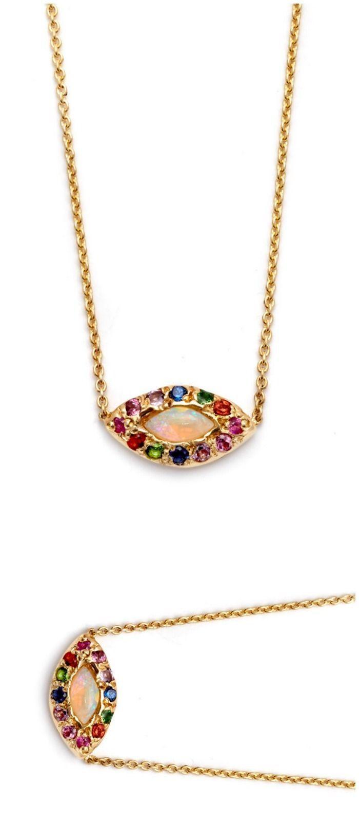 The beautiful opal eye necklace by Elisa Solomon. Featuring a lovely little opal...