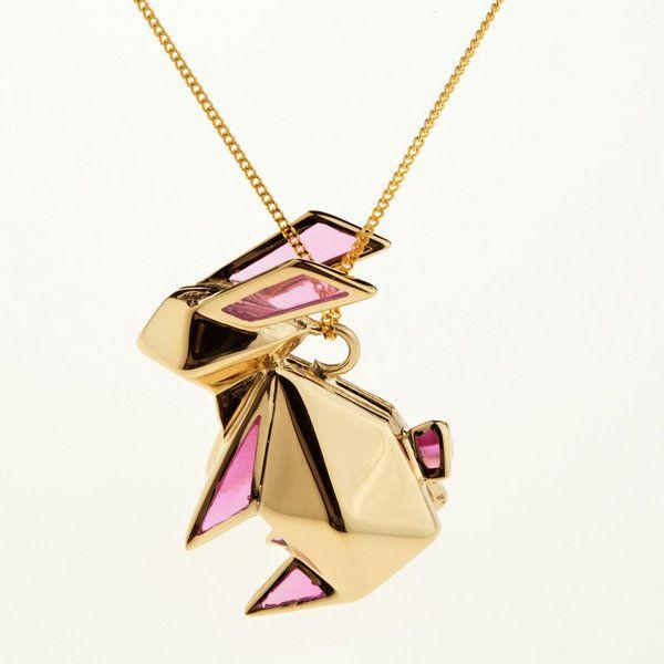 origami jewellery bunny