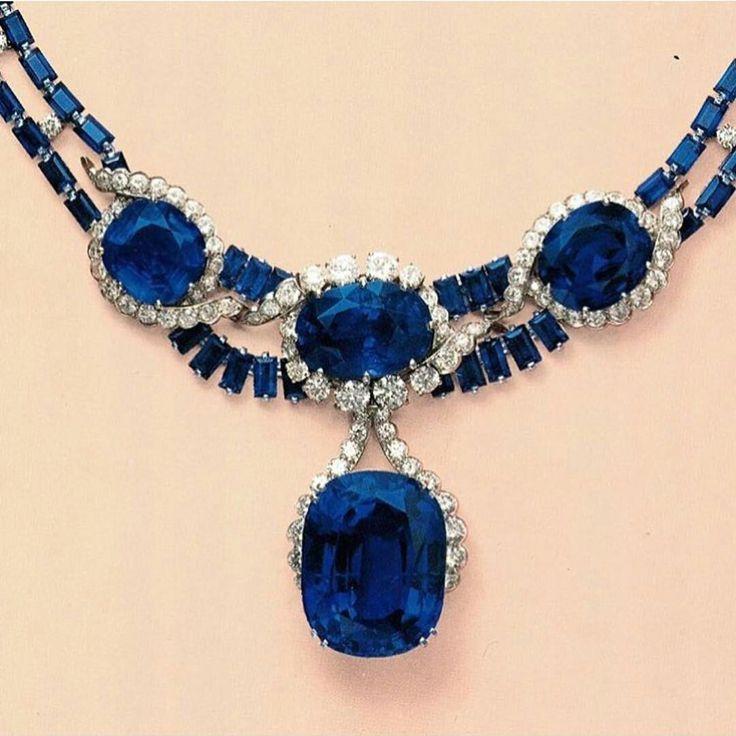 Suspending the 'Blue Princess', a 114.30 carats Sapphire #highjewellery #royalje...