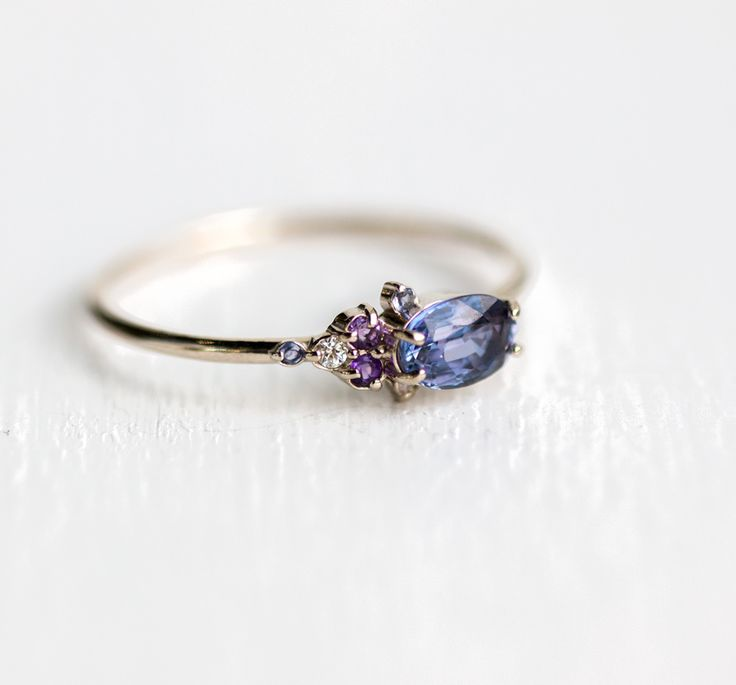 $680 Klick for more! For Dreamers Ring, Sapphire, Iolite, Amethyst and Diamonds ...