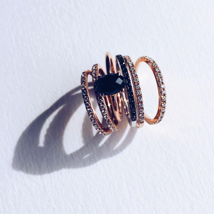 Aristides Fine Jewels / Ring Stack / Engagement Rings / Wedding bands / Rose Gol...