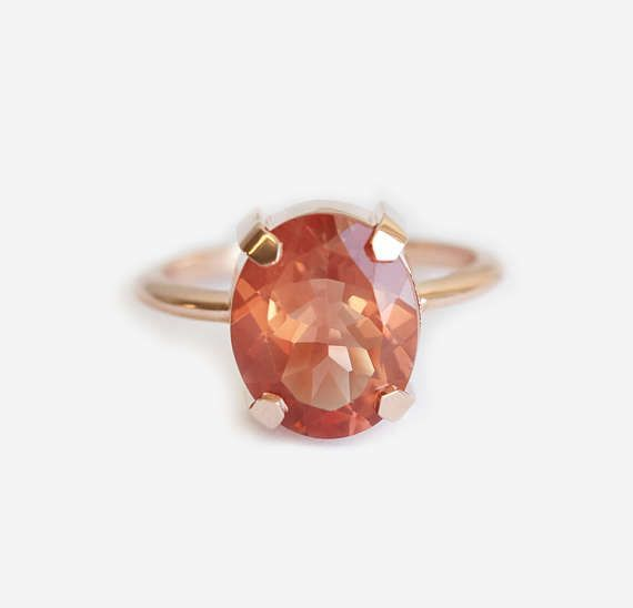 Oval Sunstone Ring