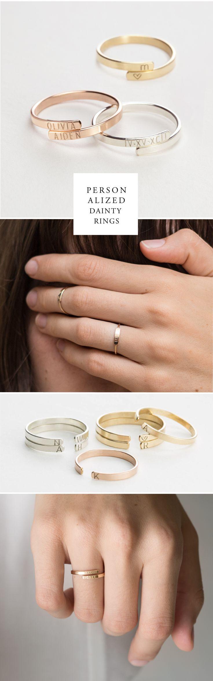 Personalized Initial Rings. For a meaningful piece to treasure, nothing beats et...