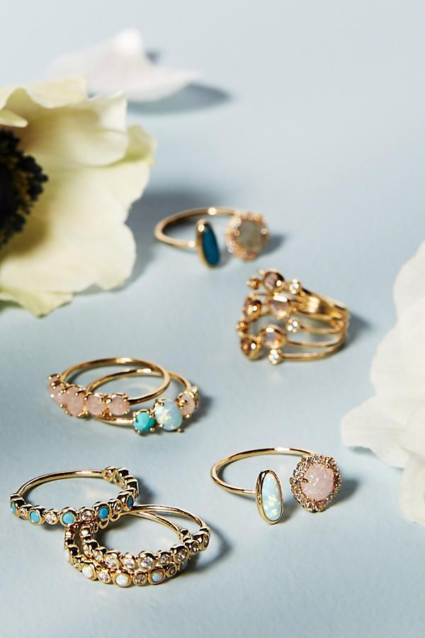 Rosaline Ring Set.  Add a touch of sparkle to your outfit.
