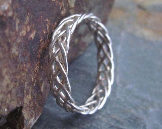 ae24b763302ba Rings Ideas : Sterling Silver Braided Ring - 5 Strand Braided Ring ...