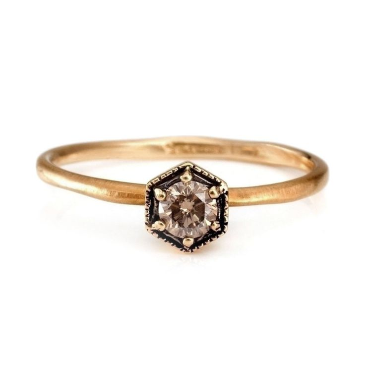 This sparkly hexagon ring.