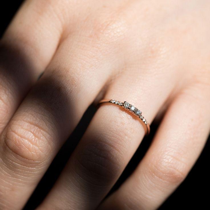 Three Diamond Equilibrium Ring - Wedding & Engagement - Catbird