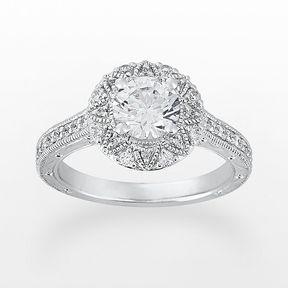 Cherish always round-cut diamond engagement ring