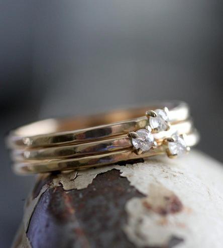 Gold + Diamond Stacking Rings