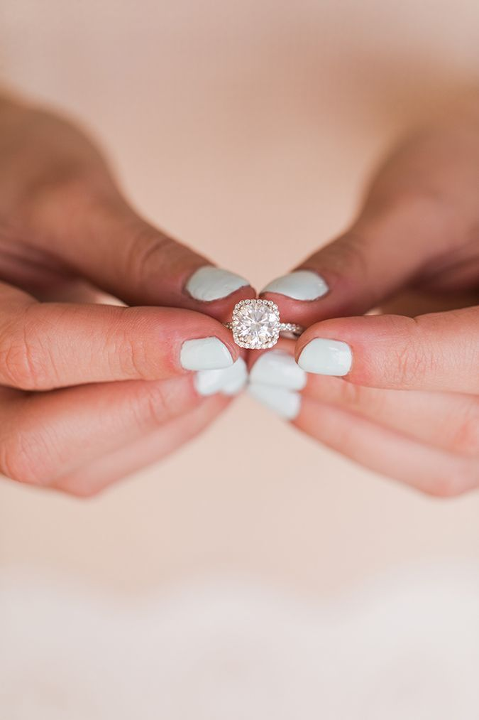 Rings Inspiration Icy Blue Mani Cushion Cut Engagement Ring By