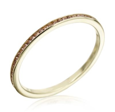 Michael C. Fina - Jubilation Collection 18K Rose Gold & Pink Garnet Micro Band