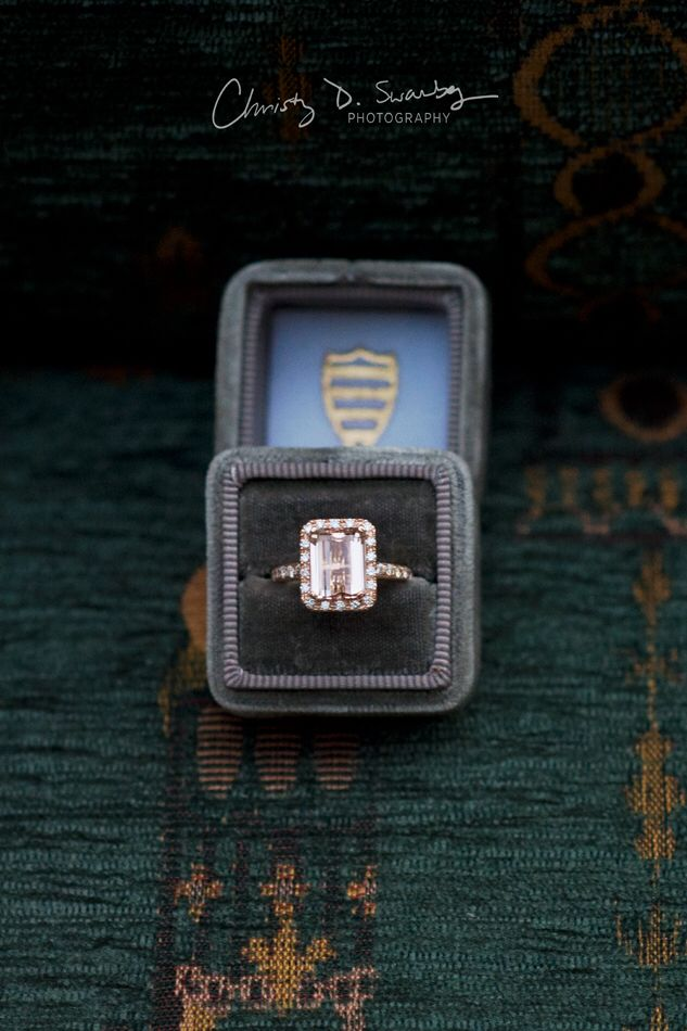 Morganite rose gold emerald cut ring | photography by Christy D Swanberg Photogr...
