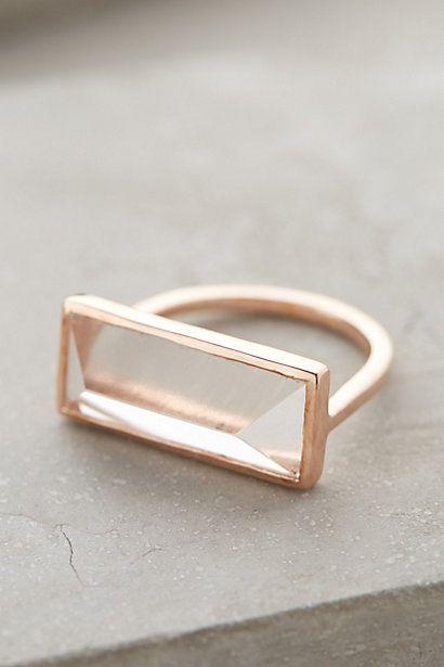Quartz Rectangle Ring by Lulu
