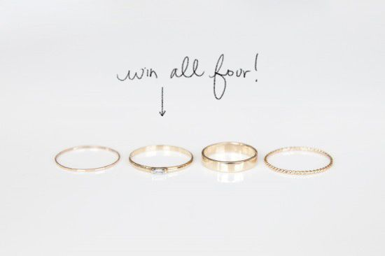 RINGS GIVEAWAY WITH CATBIRD