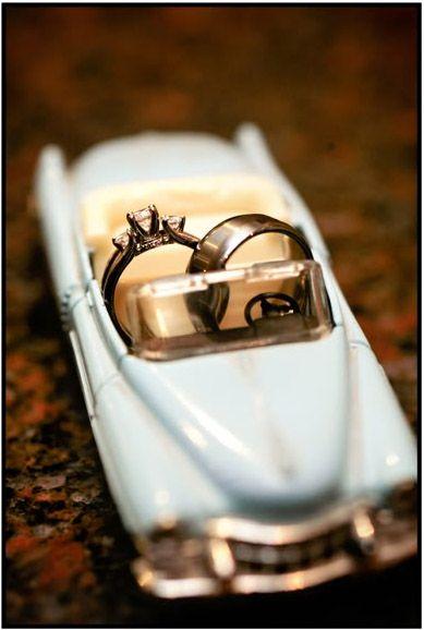 Ring shot in a toy car - so cute.