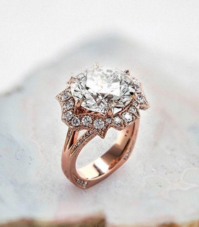 Rose gold diamond engagement ring from Brian Gavin Diamonds