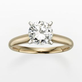 Round-cut igl certified diamond solitaire engagement ring in 14k gold (1 1/2 ct....