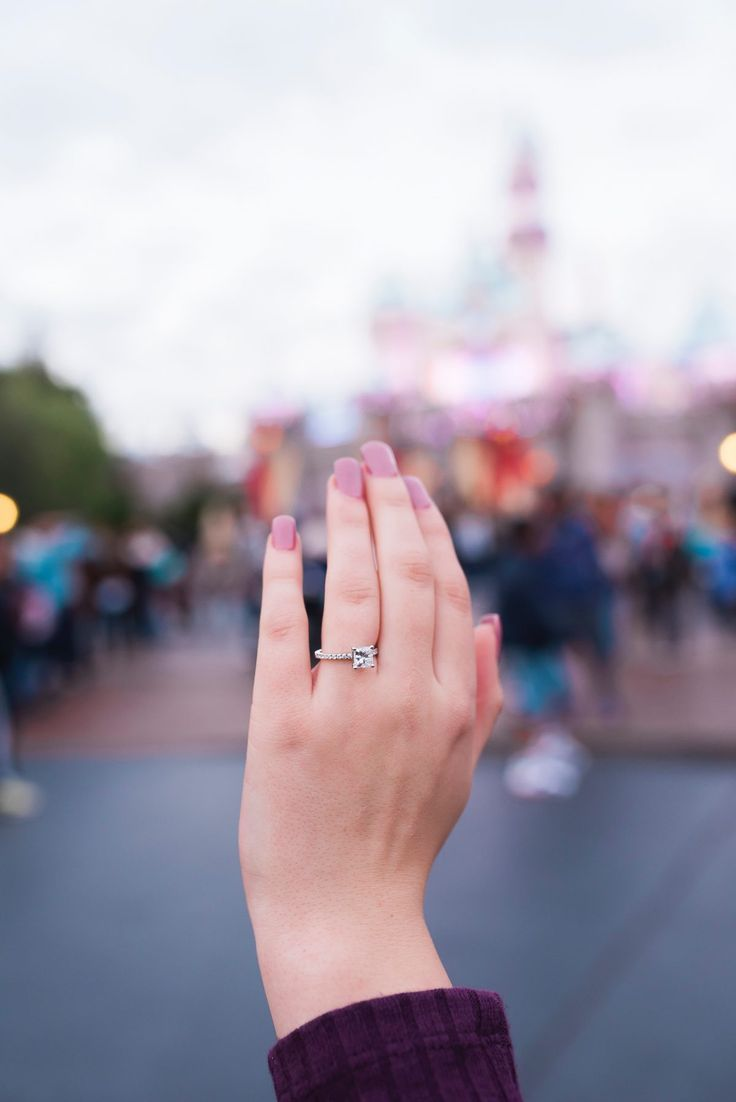 This solitaire engagement ring is fit for a princess, and their Disney proposal ...