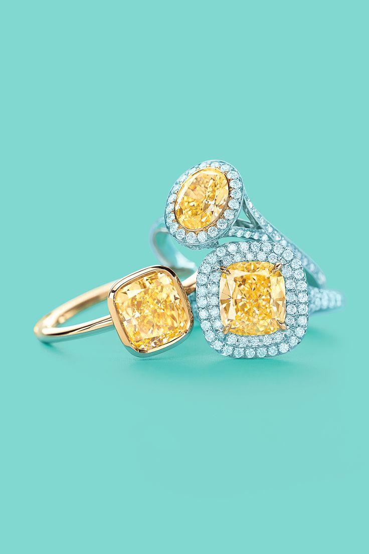 Tiffany & Co. yellow diamond rings ♥
