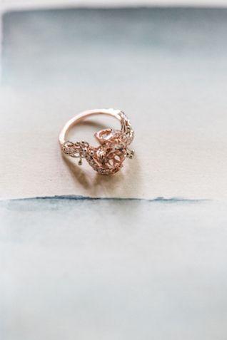 Unique rose gold wedding ring   Petra Veikkola Photography