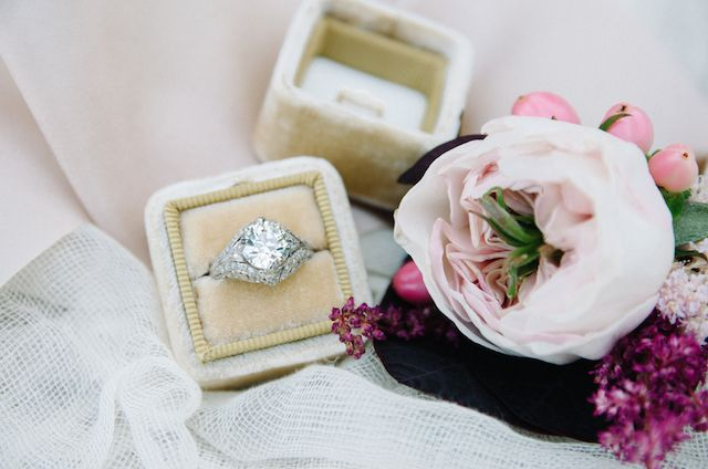 Vintage diamond engagement ring | Tulip + Rose Photography | see more on: burnet...