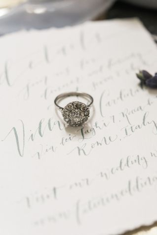Vintage wedding ring | Joy Michelle Photography | see more on: burnettsboards.co...