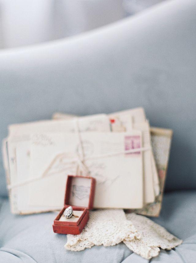 Vintage wedding ring   Kate Ignatowski Photography   see more on: burnettsboards...