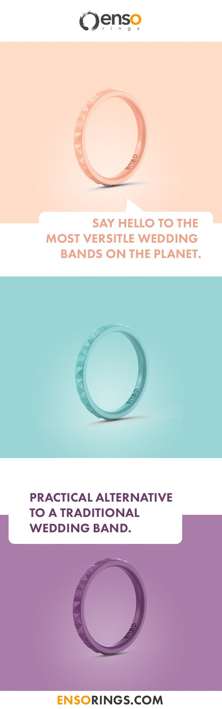 Why not choose a silicone wedding band as vibrant as your love for your partner?...