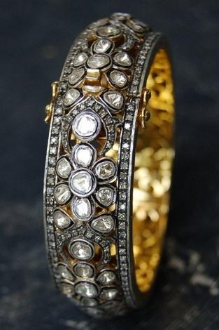 Diamond and gold bracelet.