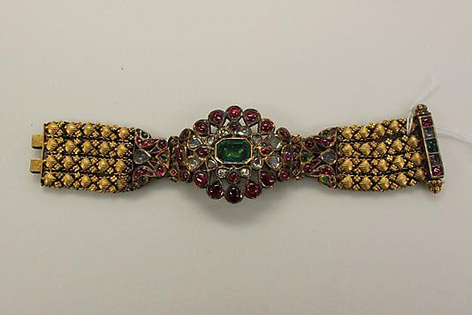 Ruby, emerald and diamond bracelet.