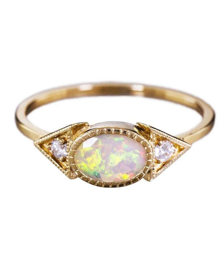 Opal Engagement Rings That Are Oh-So Dreamy | Martha Stewart Weddings - Jennie...