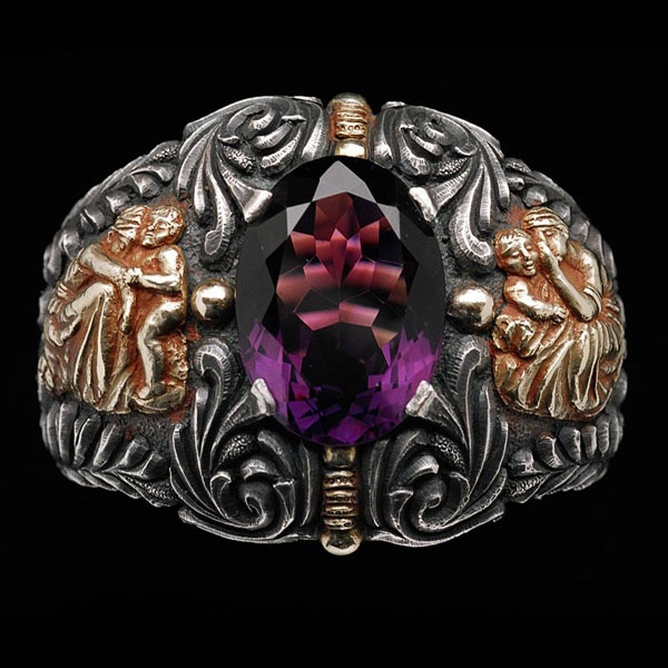 Amethyst, silver and gold bracelet, by Pere Martivilanove.