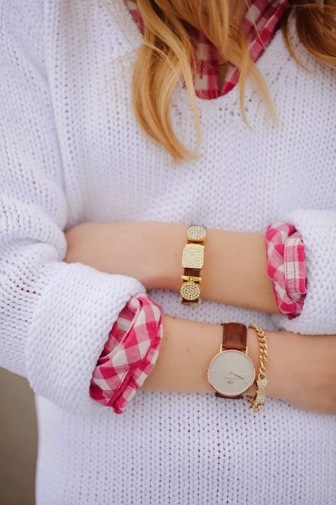 Arm Candy Prep Style White Sweater