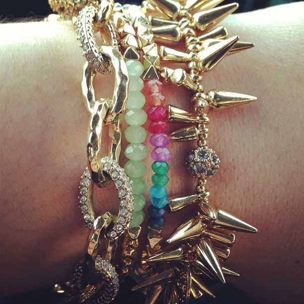 Beautiful bracelets by Stella & Dot. Photo by @laurenciciarelli