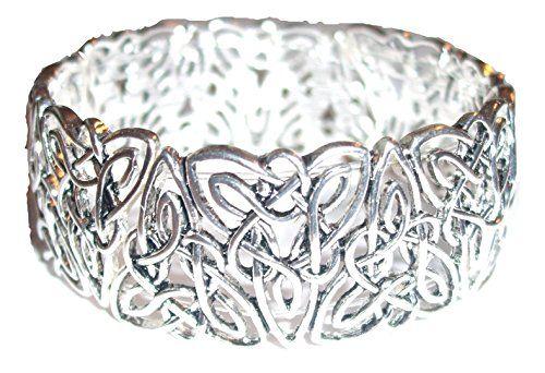 Celtic Knot Bracelet Z38 Irish Bangle Silver Tone Stretch... www.amazon.com/...