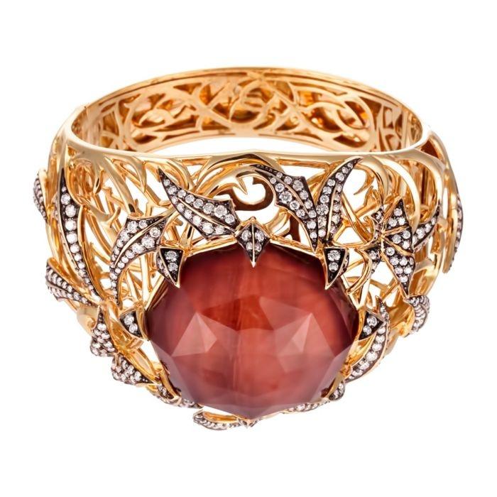 Diamond and gemstone bracelet.