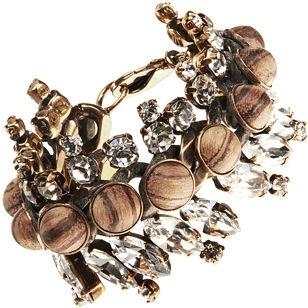 Givenchy Wood & Strass Bracelet