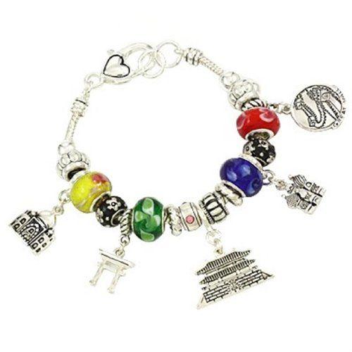 Good Luck Theme Charm Bracelet Z9 Asian influence Murano ... www.amazon.com/...