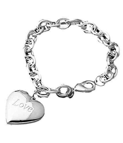 Heart Locket Bracelet BC Love Simple Elegance Luxury Plat... www.amazon.com/...