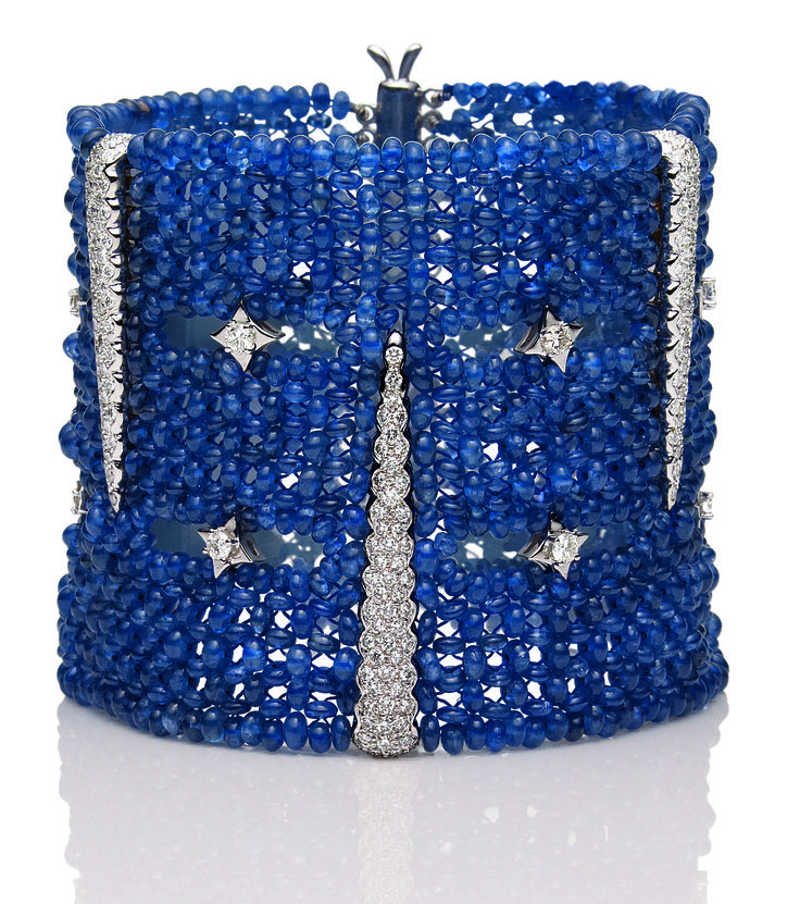 -Amazing sapphire and diamond cuff bracelet♥