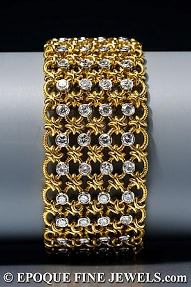 Beautiful gold and diamond bracelet.